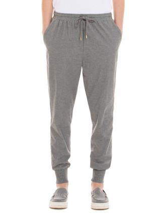 Pale Grey Flannel Jogger Pant