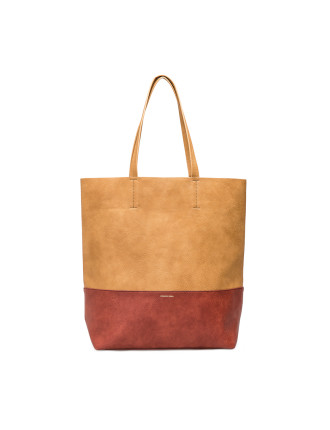 Contrast Panel Tote
