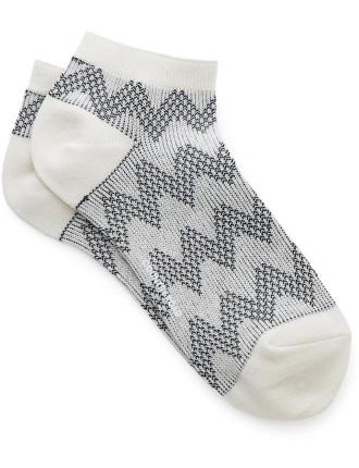 Chevron Ped Socks