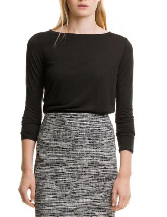 Long Sleeve Silk T-Shirt