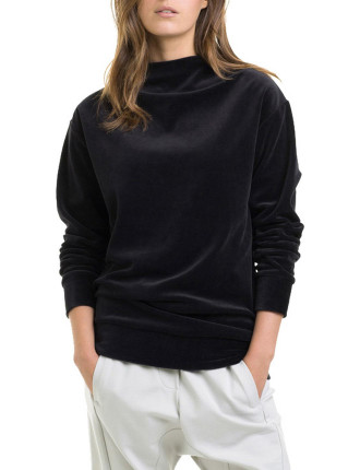 Velour Mock Neck Knit