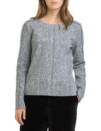 Long Sleeve Heathered Jersey Top