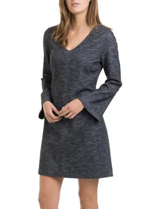 Heathered Bell Sleeve Dress