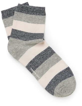 Blocked Quarter Crew Socks
