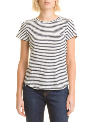 Cotton Slub Stripe T-Shirt