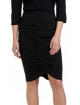 Gathered Bodycon Skirt