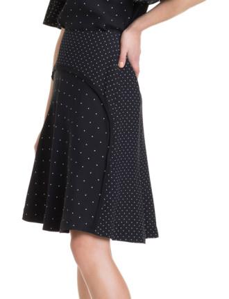 Contrast Spot Skirt