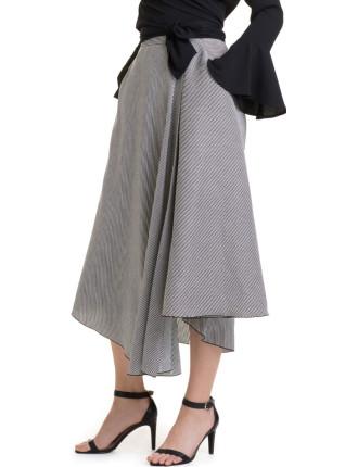 Mini Strp Maxi Skirt