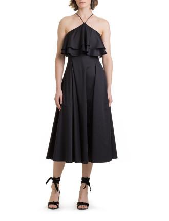 Ruffle Halter Dress
