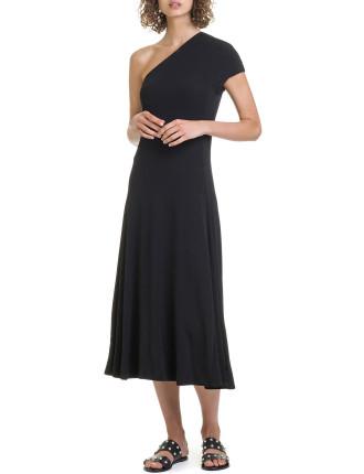 Crepe Jersey Midi Dress
