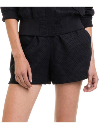 Perforated Linen Short