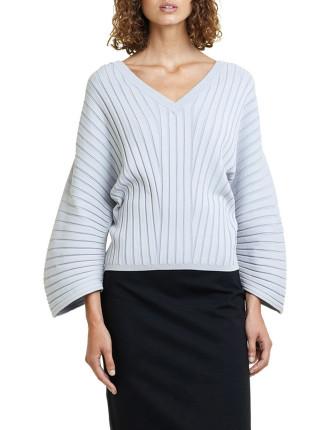 Pleated Rib Pullover