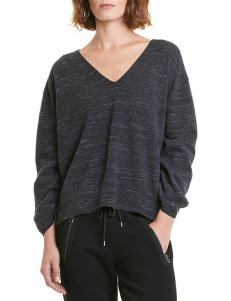 Speckle V-Neck Knit