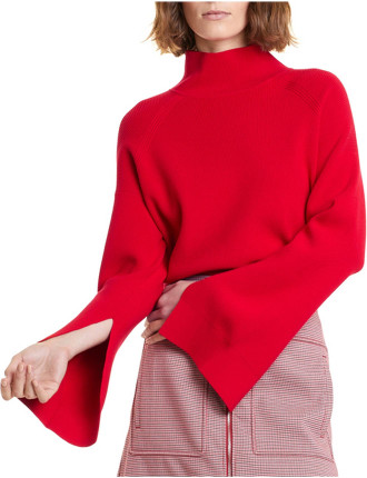 Split Sleeve Rib Knit