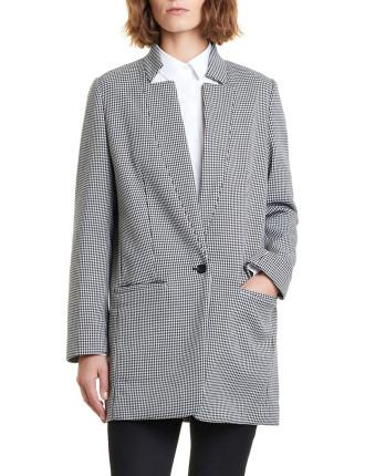 Houndstooth Boyfriend Coat