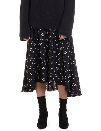 Multi Stitch Print Midi Skirt