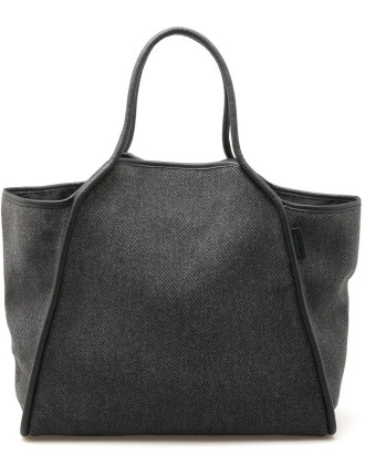 Textured East West Tote