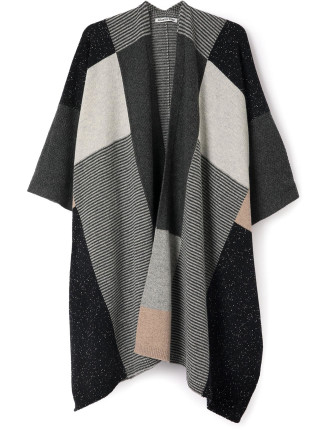 Textured Panel Poncho