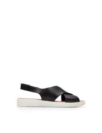 Black Mickie Leather Sandal