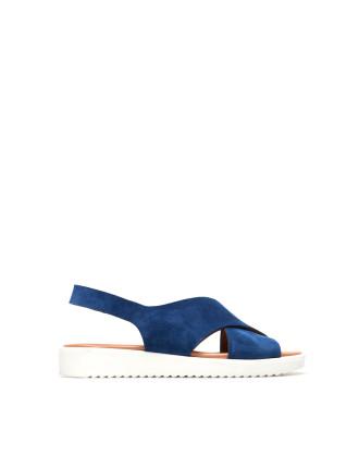 Cobalt Mickie Suede Sandal