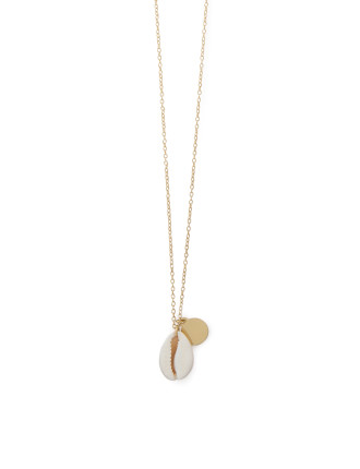 Gold Shell Disc Neck