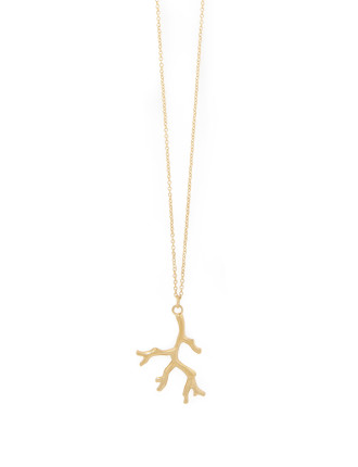 Gold Metal Coral Neck