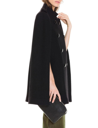 Button Detail Cape