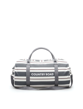 Double Stripe Logo Tote