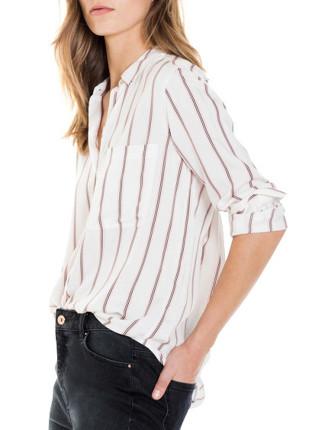Stripe Button Through Shirt