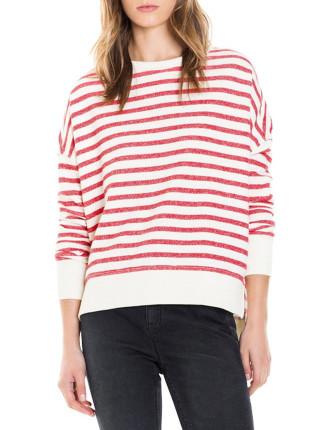 Stripe Sweat Knit