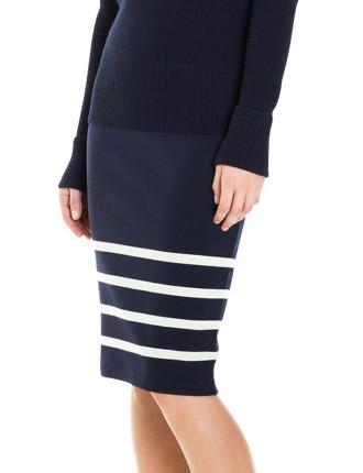 Engineered Stripe Skirt