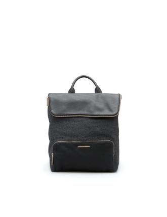 Woven Folded Backpack