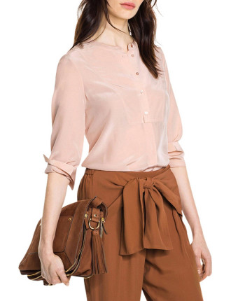 Silk Bib Shirt