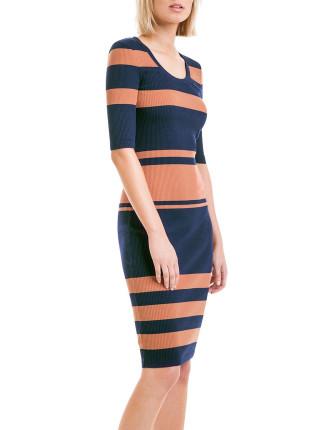 Rib Stripe Maxi Dress