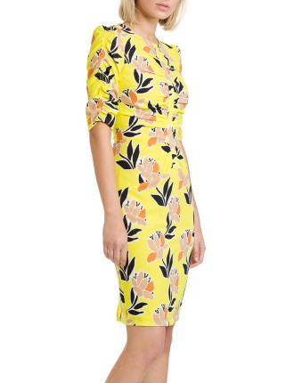 Print Rouched Dress