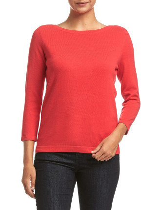 KATIE BOATNECK KNIT