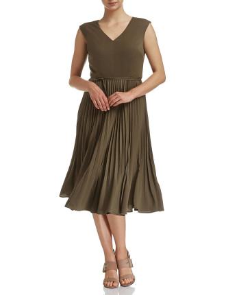 Rhea Pleat Dress