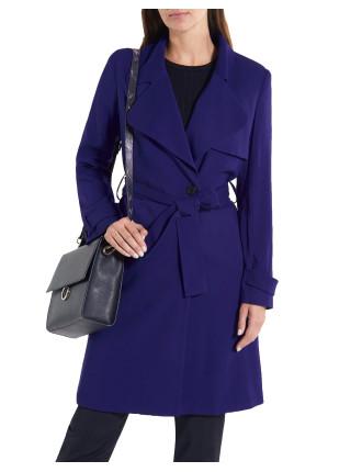 Iris Drape Trench Coat