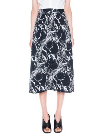 Marble Jacquard Midi Skirt