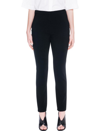 Structured Viscose Slim Pant