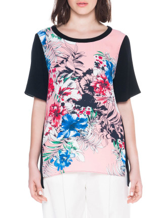 Tropical Floral Oversized Tee