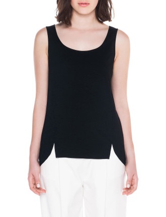 Dry Viscose Scoop Neck Tank