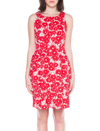 Poppy Jacquard Cross Back Dress