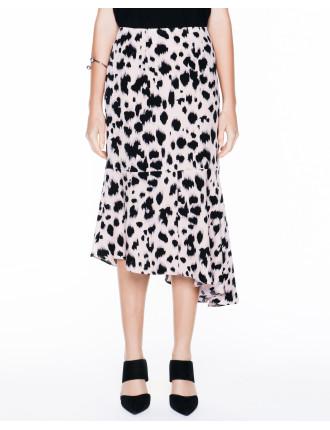 Abstract Spot Draped Skirt