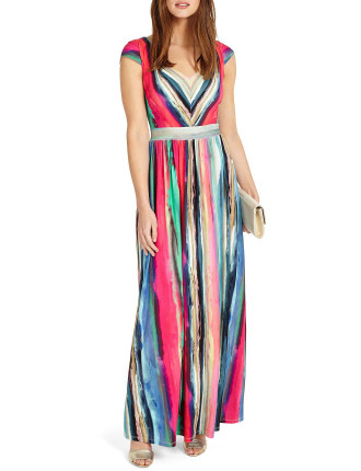 Nia Striped Maxi Dress