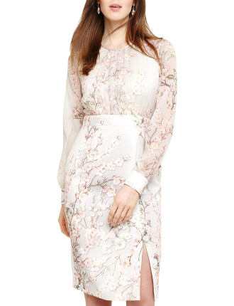 NISSA FLORAL DRESS WITH SLEEVES
