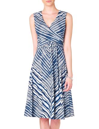 Blurred Chevron Dress