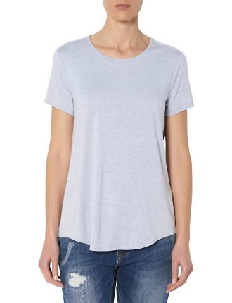 Short Sleeve Split Hem T-Shirt