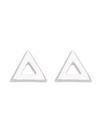 Open Triangle Earring