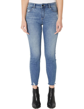 Skinny Raw Hem Jean